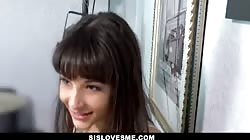 SisLovesMe - Teen Cheers Up Her Stepbro With Tight Pussy