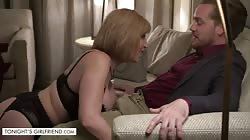 Tonights Girlfriend Sara Jay gives customer a very exclusive lap dance