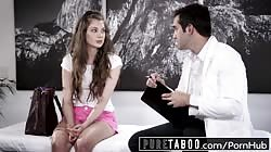 PURE TABOO Elena Koshka Breaks Hymen with Dirty Doctor